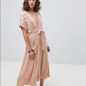 Free people love to love you midi small pink